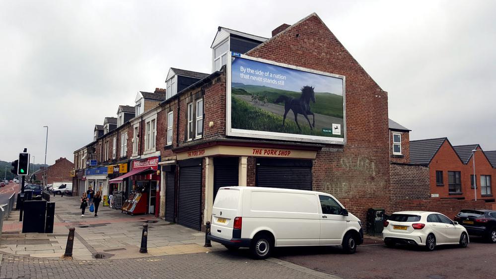 Missing signage on Saltwell Road