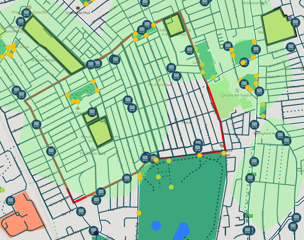 Schools within a five-minute walk